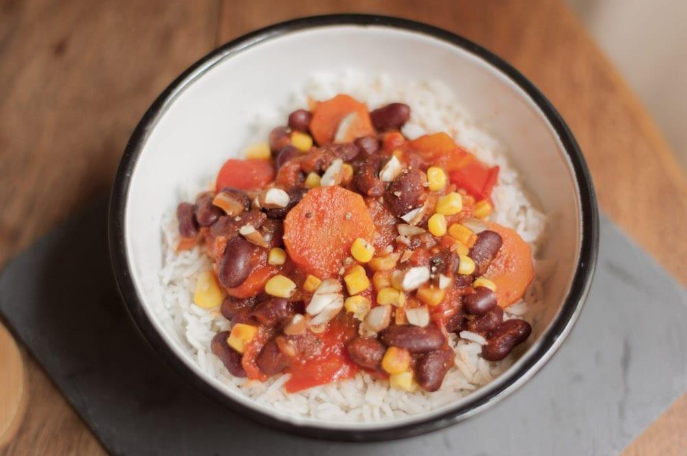 recette chili végétarien