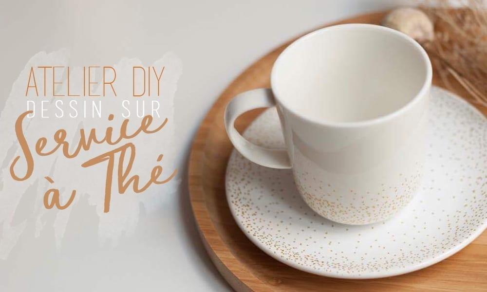 atelier diy dessin service à thé
