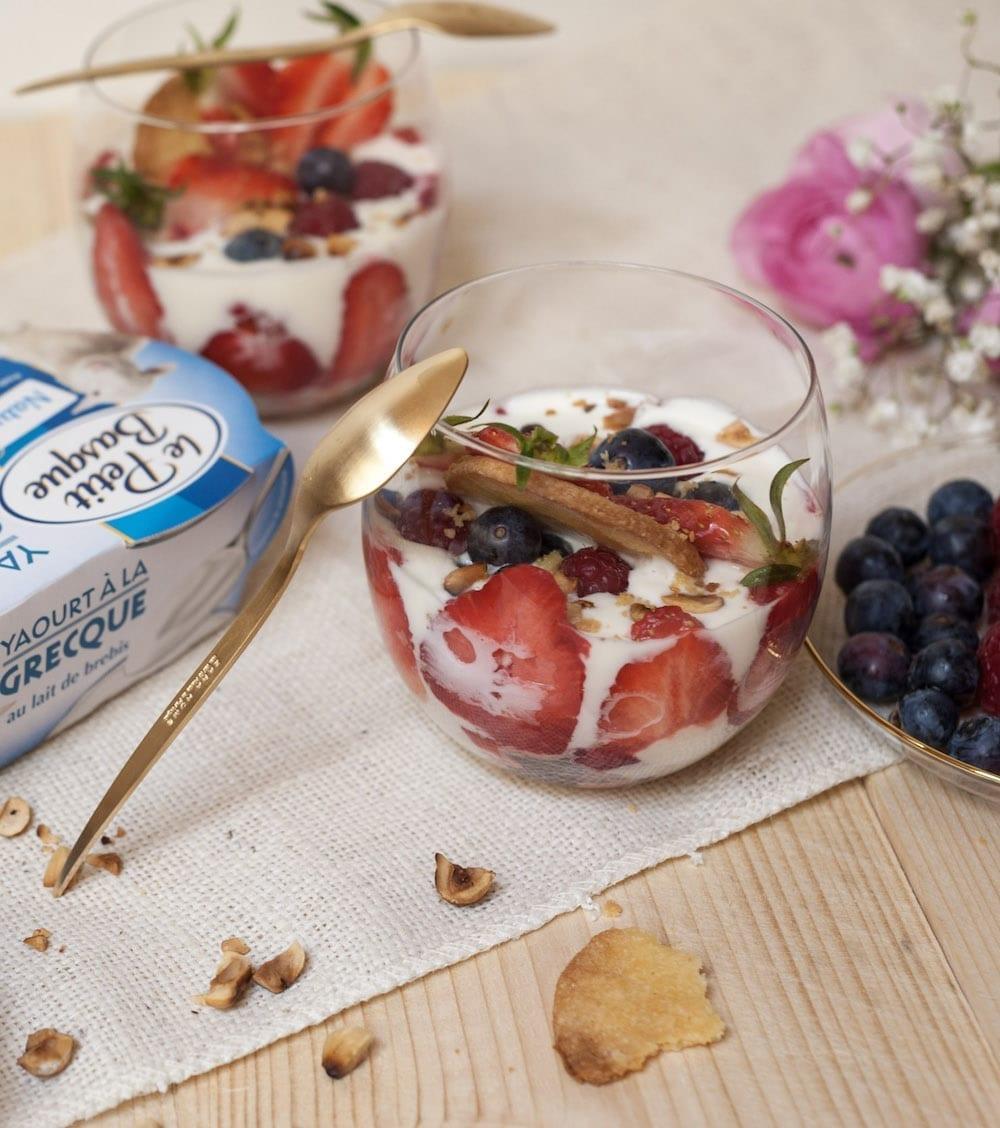 recette verrine yaourt à la grecque au lait de brebis