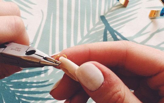 diy : coquillage et anneau
