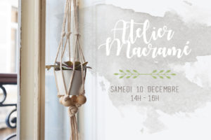 Atelier DIY Suspension Macramé avec Pigsie