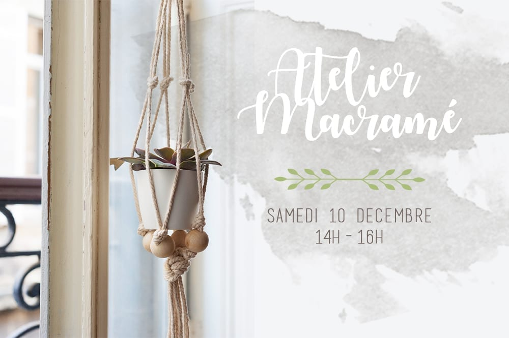 atelier DIY suspension macramé