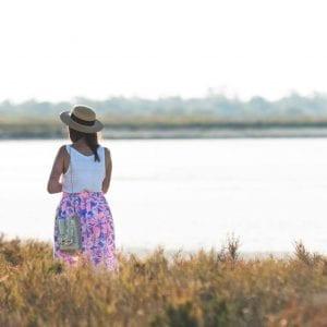 Couture : jupe à taille élastique en jersey fleuri