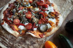 Recette : pizza healthy aux légumes d'été