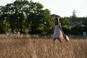 Virevolte en version robe de l'Atelier Scämmit