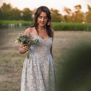 DIY : coudre une robe pour invitée de mariage en guipure