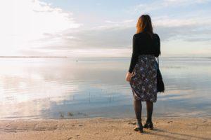 DIY : coudre une jupe froncée à taille élastique midi