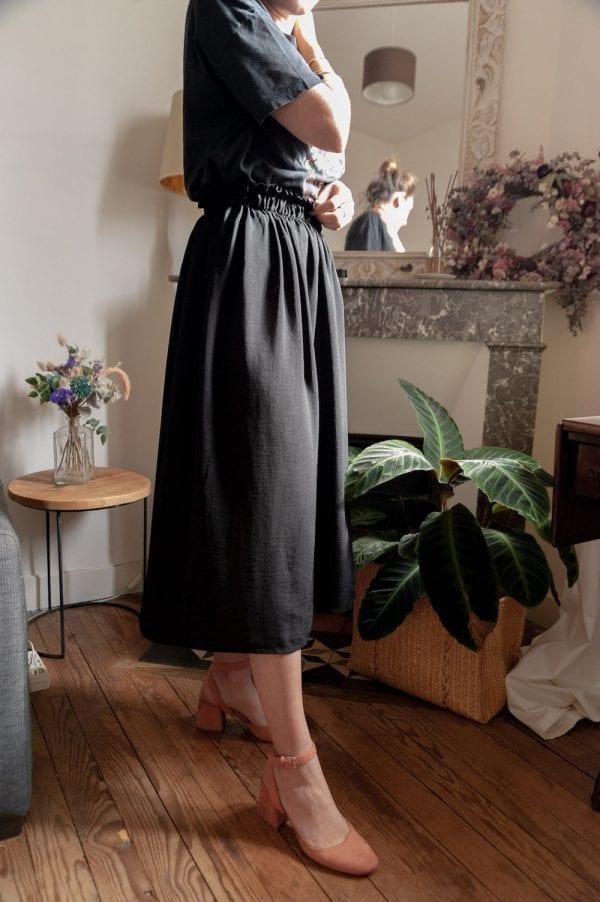 Atelier couture à Bordeaux : la jupe à taille élastique