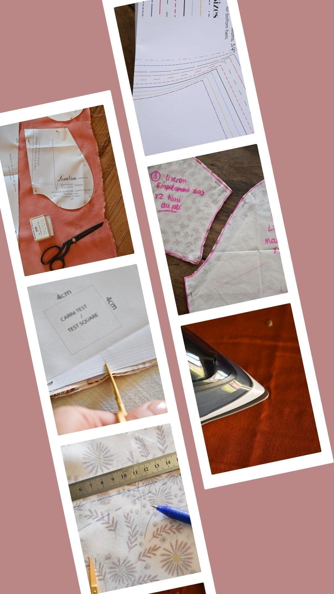 préparer un projet couture