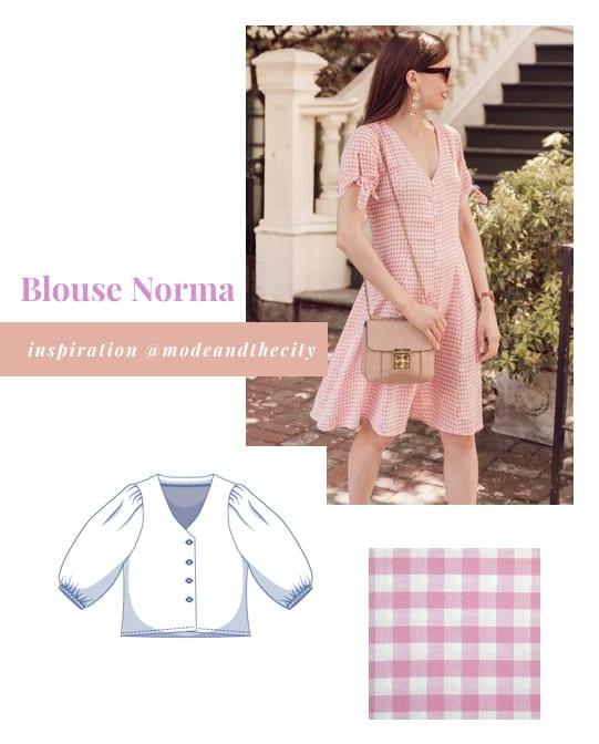Inspirations pour coudre la blouse norma de Fibre Mood version robe