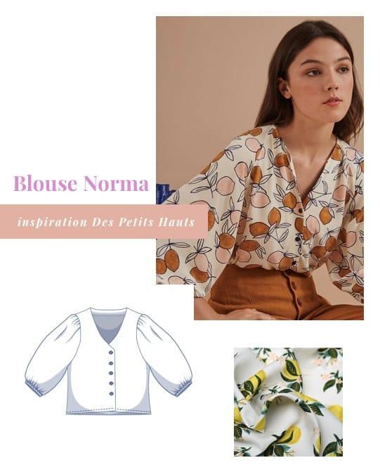 Coudre la blouse Norma de Fibre Mood inspiration Des Petits Hauts