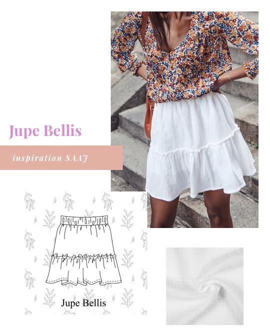 Inspirations pour coudre la jupe Bellis de Pretty Mercerie