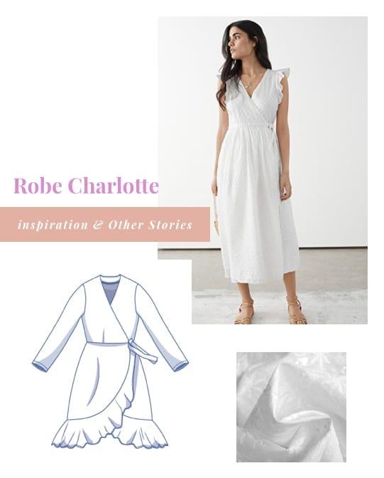 Inspiration pour coudre la robe Charlotte de Fibre Mood