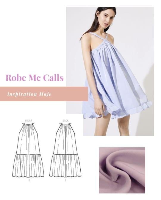 Coudre robe Mc Calls inspiration Maje