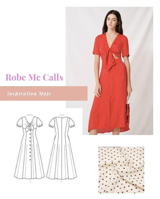 Coudre une robe Mc Calls inspiration Maje