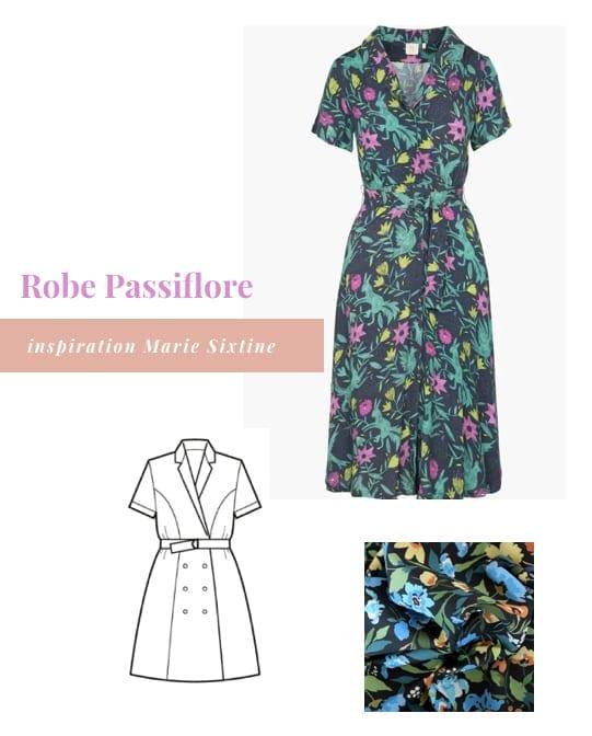 Inspirations pour coudre la robe Passiflore de Deer and Doe