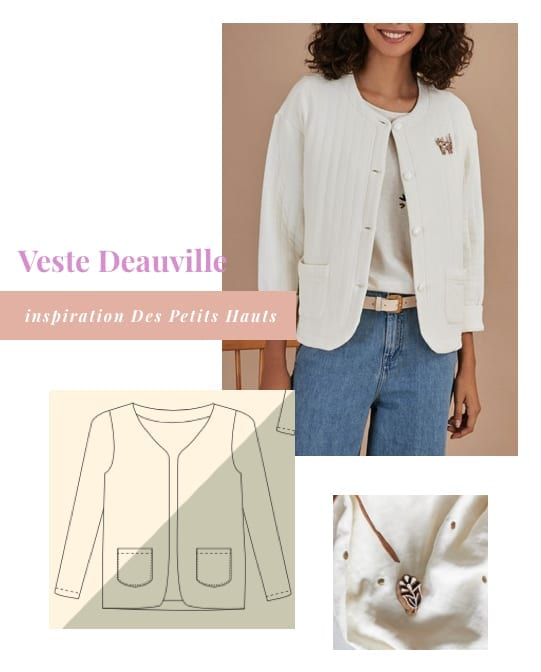 Inspirations pour coudre la veste Deauville d'Anne Kerdilès