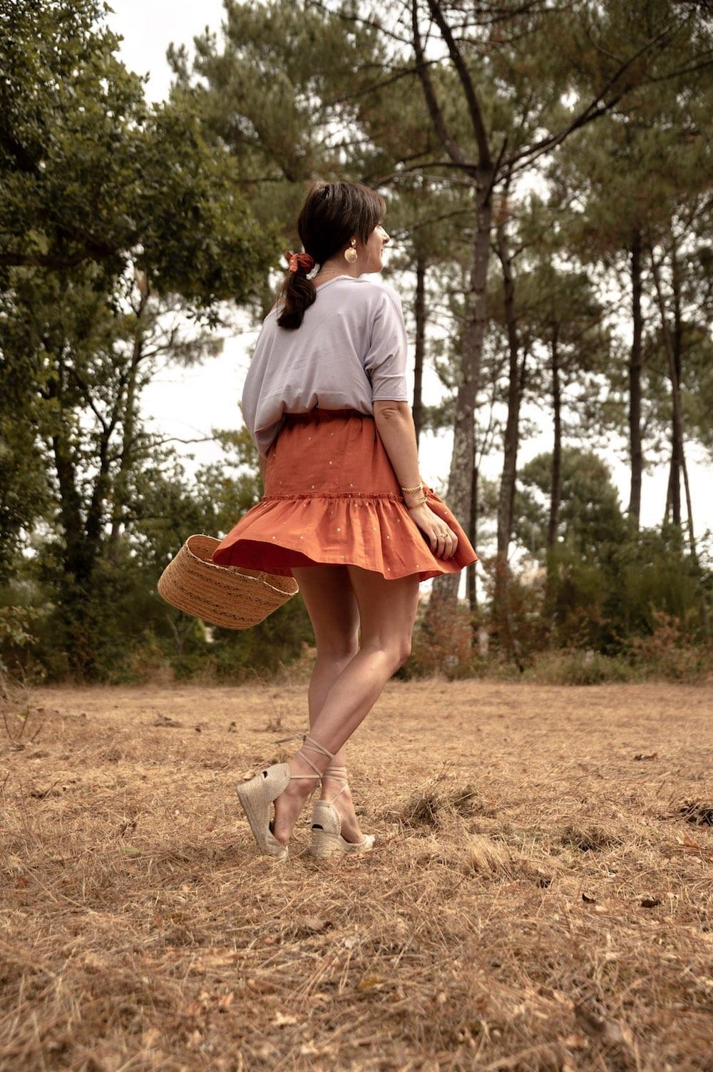 Jupe Bellis de Pretty Mercerie en Stardust chestnut Atelier Brunette