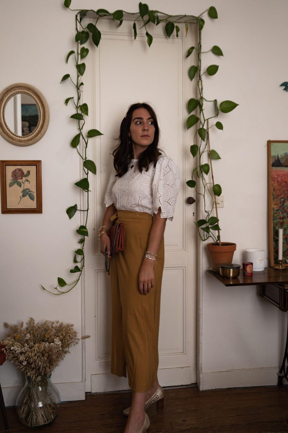 Look 2 : Blouse Ermine de Coraline Bijasson (hack) et jupe Katya de Lenaline Patterns
