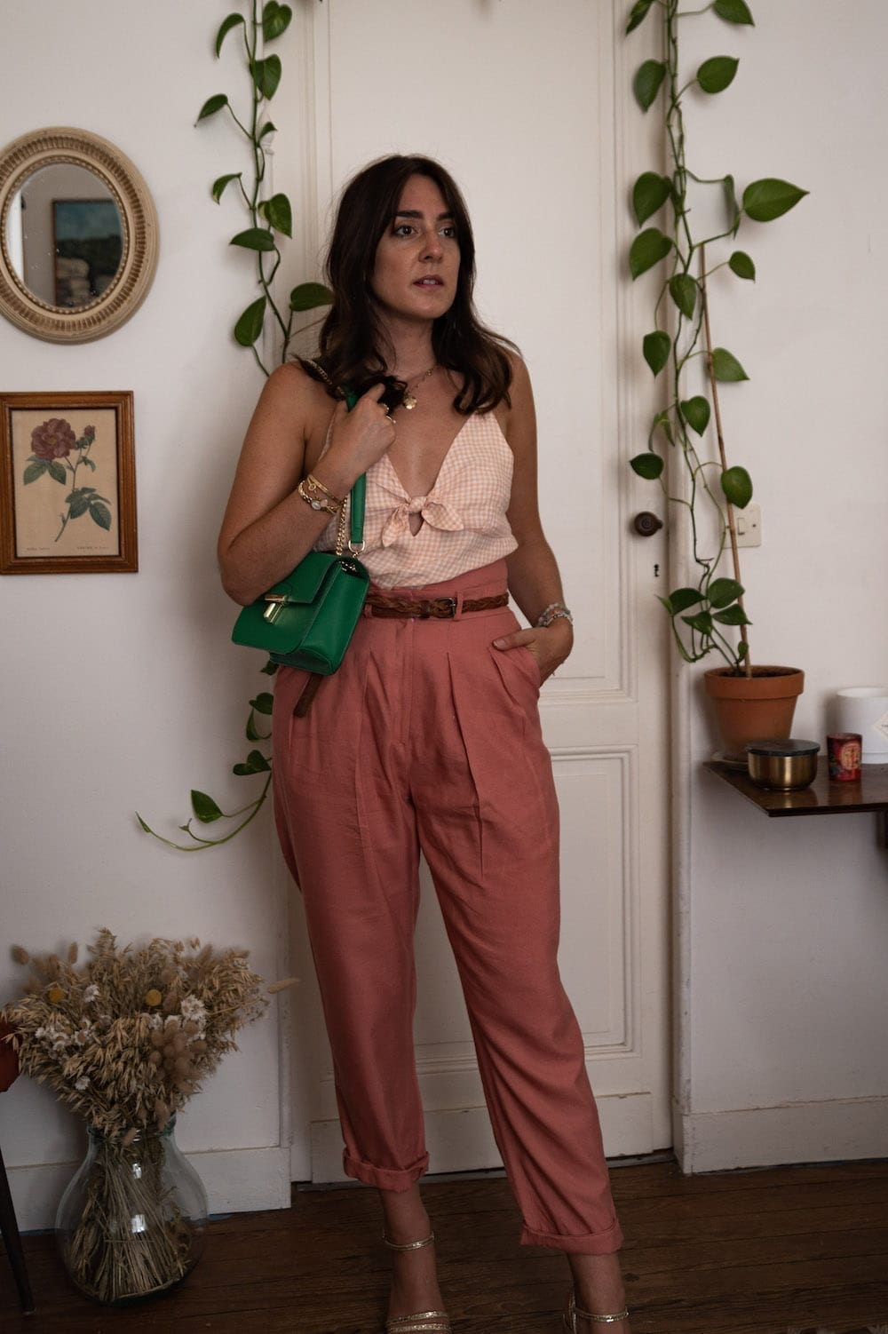Look 5 : Top Elegy de Mimoi Patterns et pantalon Viktor de Lenaline Patterns