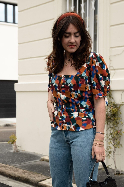 Anémone version blouse à manches courtes