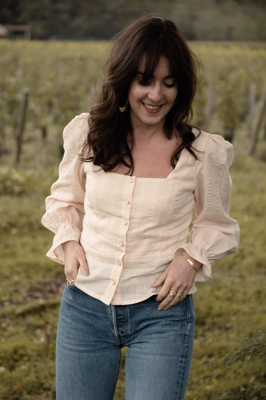 Anémone version blouse à manches longues