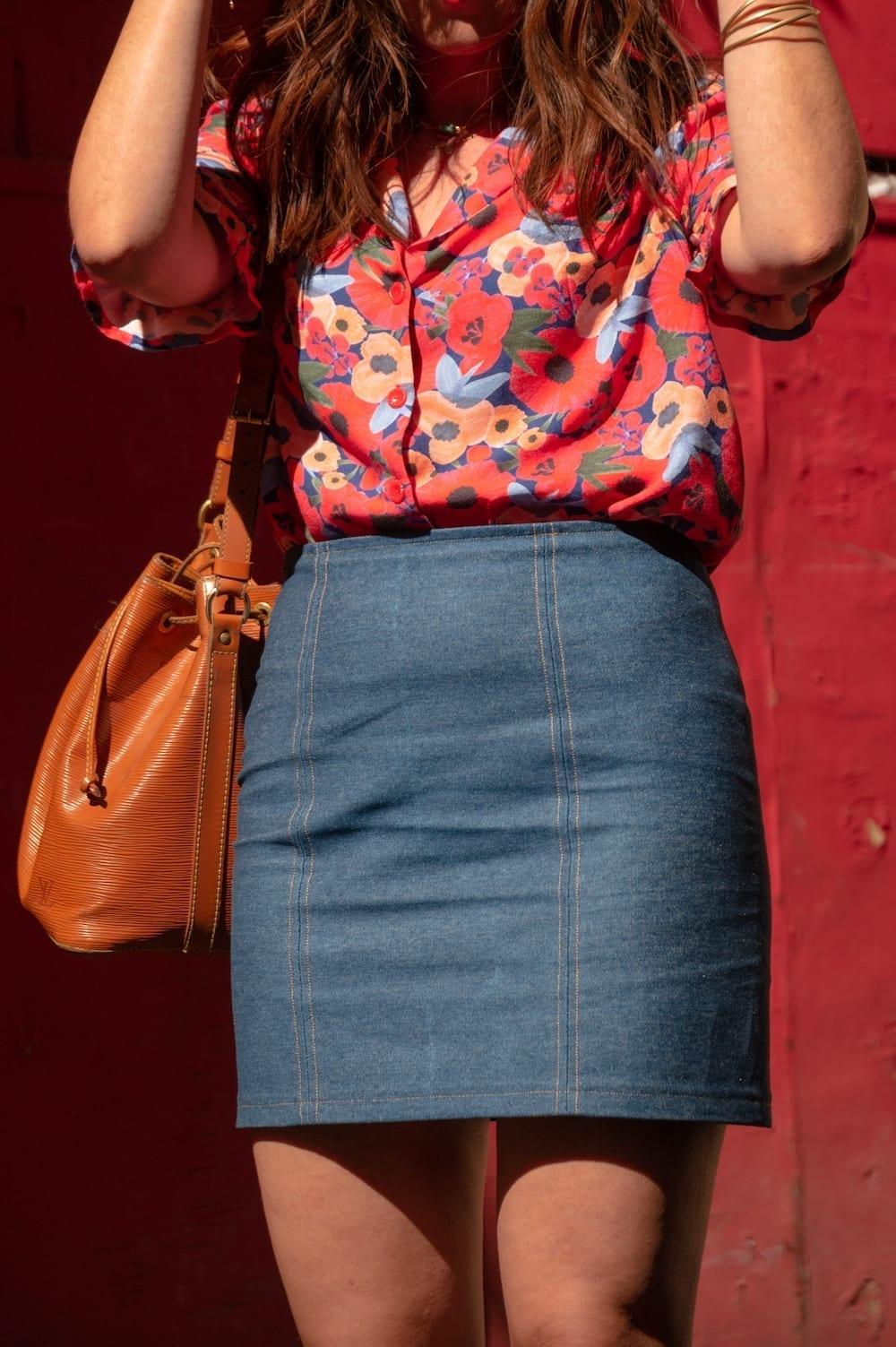 Blouse Dorothie de Slow Sunday et jupe l'Arbanaise de Vestiaire Eponyme