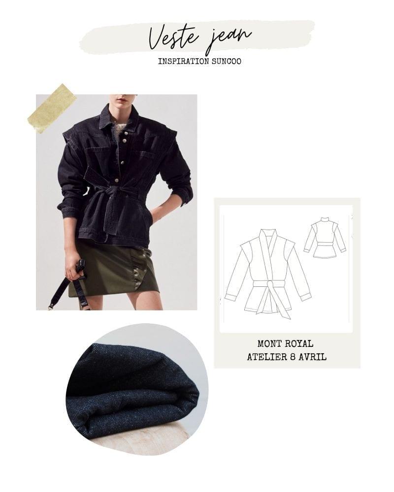 Veste en jean kimono - Mont Royal d'Atelier 8 Avril