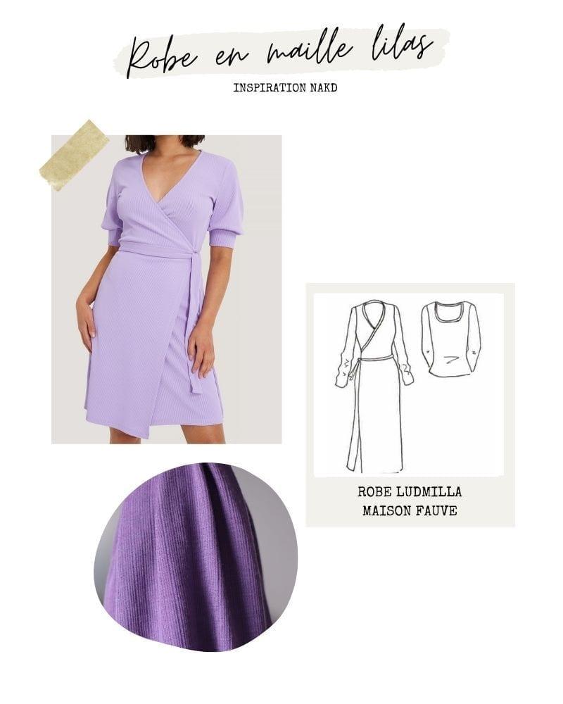 Robe maille lilas - Ludmilla de Maison Fauve