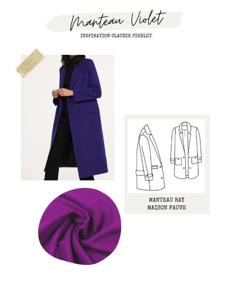 Manteau violet - Ray de Maison Fauve