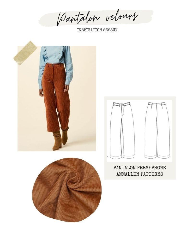 Pantalon velours - Persephone Annalen Clothing