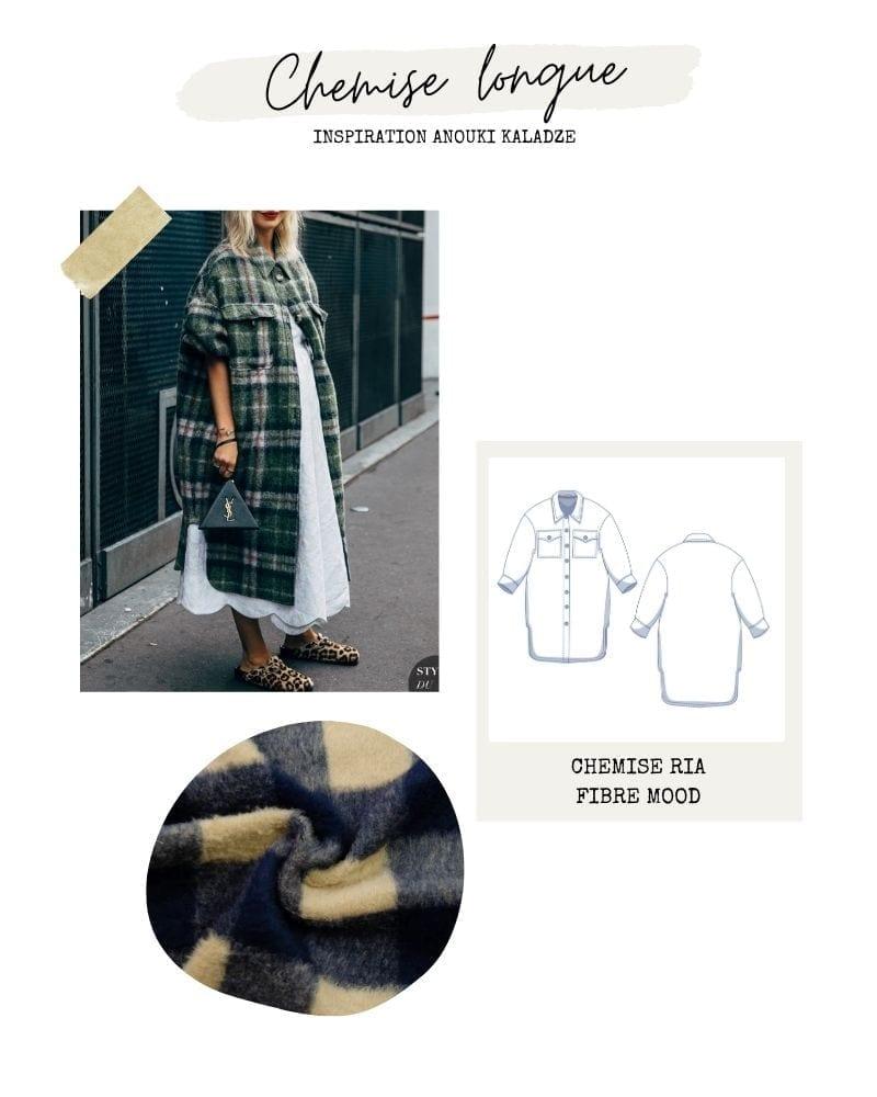 Chemise manteau - Ria de Fibre Mood
