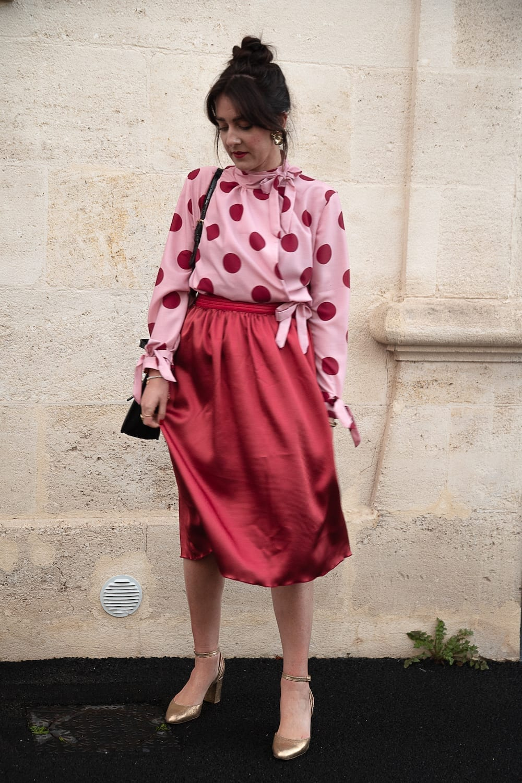 Coudre la blouse Donna de Camimade et une jupe satinée