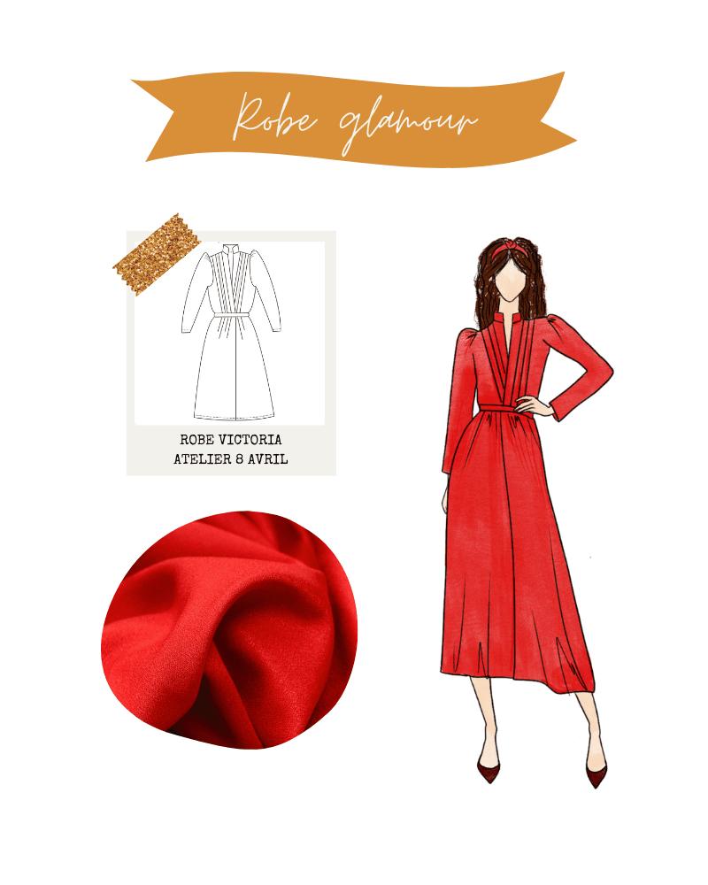 Look de fêtes : robe Victoria d'Atelier 8 Avril