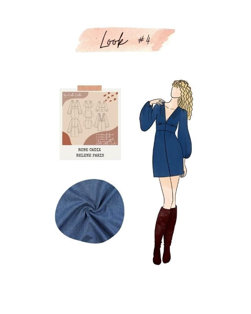 Look 4 : Robe Cadix de Bélène Paris