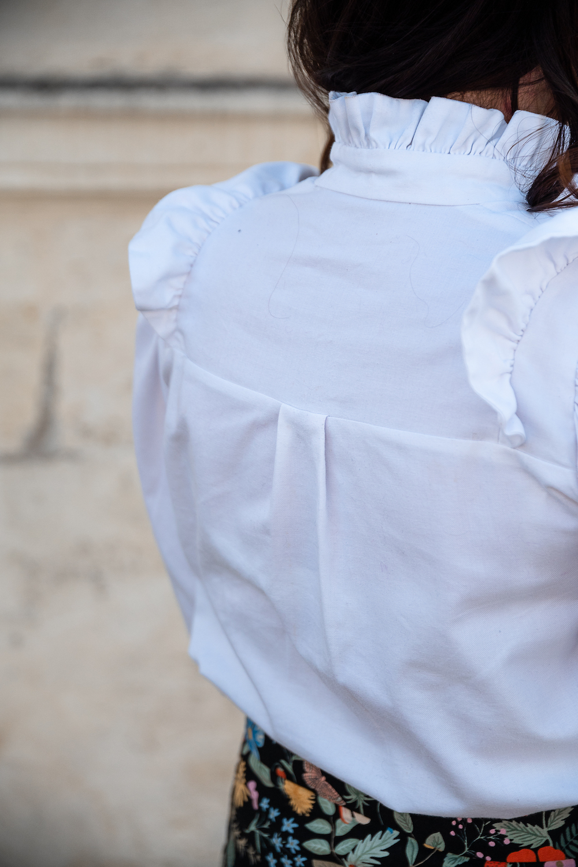 Blouse Margerie d'Atelier 8 Avril et jupe Anaïs de Roselain