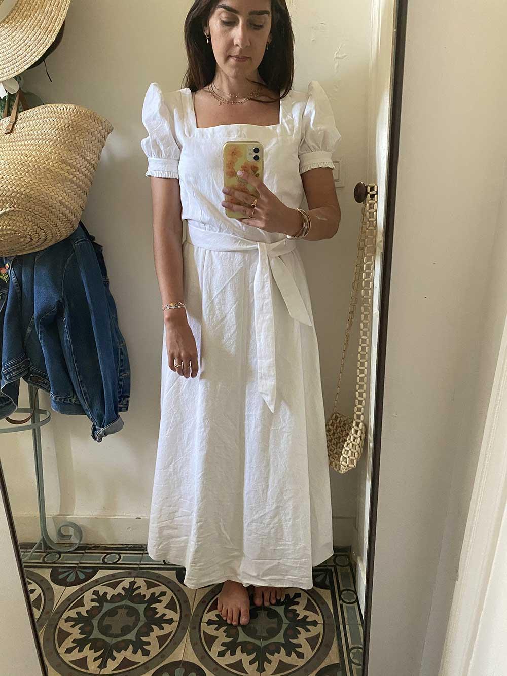 Toile robe Rose