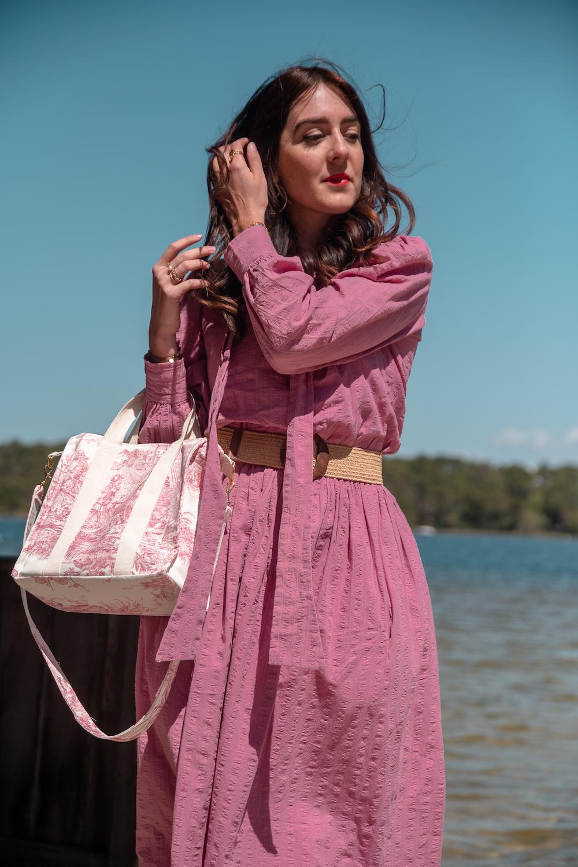 Coudre un mini sac cabas en toile de jouy