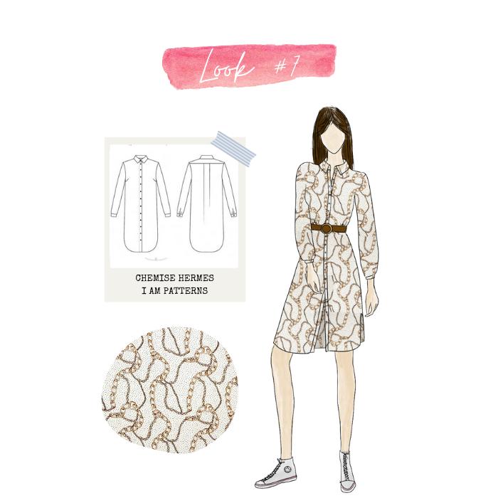 Look 7 : chemise Hermès