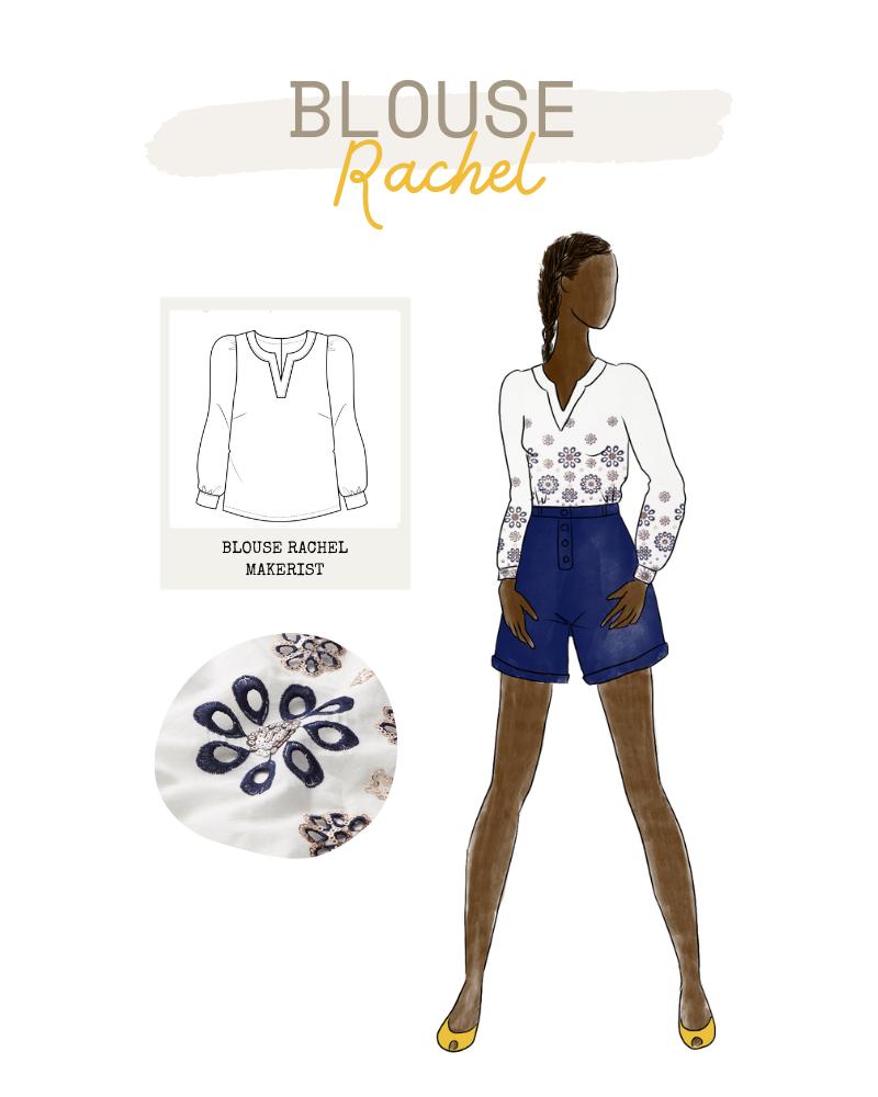 Collection FRIENDS de Makerist - Blouse Rachel