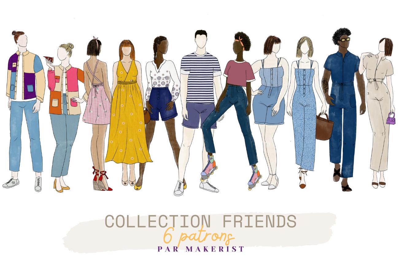 Collection FRIENDS - 6 patrons créés par Makerist