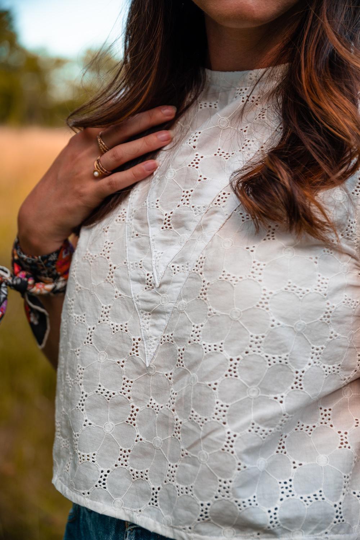 Crop top Marguerite - Ma garde-robe bohème chic