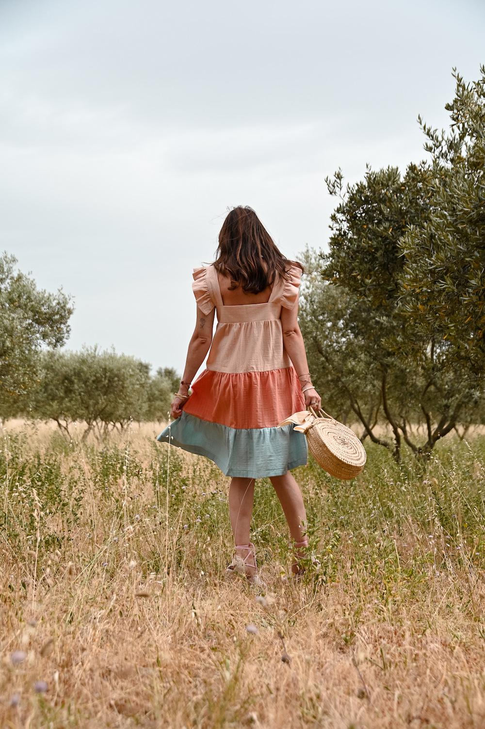coudre une robe arc-en-ciel (sans patron)
