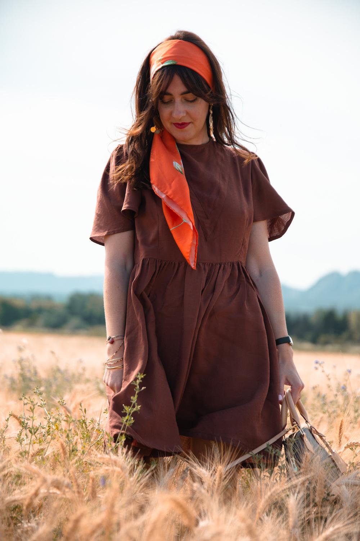 Hack robe Marguerite version courte – Ma garde-robe bohème chic