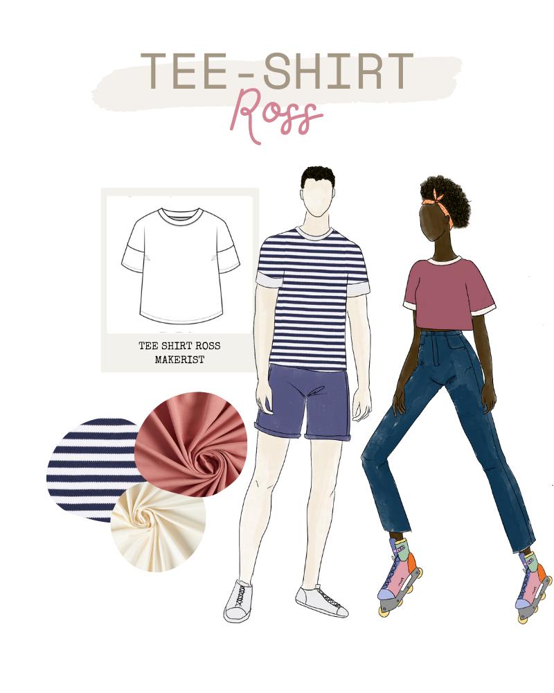 Collection FRIENDS de Makerist - Teeshirt Ross mixte