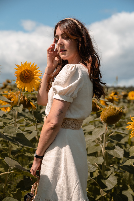 "Coudre la robe Rose du livre ""Ma garde-robe bohème chic"" version courte"