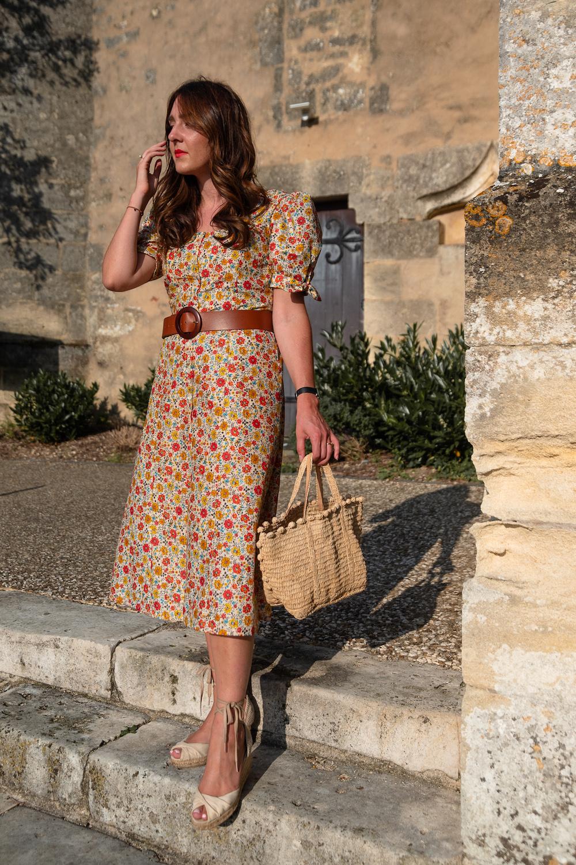Robe Anémone de Cha's Hands et Slow Sunday en coton vintage